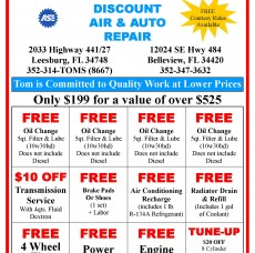 Tom's Discount Aire & Auto Repair - Coupon